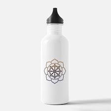 Dharma Wheel with Lotus Flowe Water Bottle