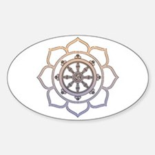 Dharma Wheel with Lotus Flowe Decal