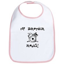 My Brother Rocks! (Drums) Bib