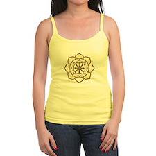Dharma Wheel with Lotus Flowe Ladies Top