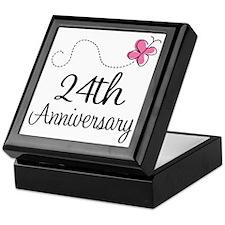 24th Anniversary Gift Butterfly Keepsake Box