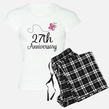 27th Anniversary Gift Butterfly Pajamas