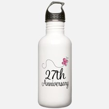 27th Anniversary Gift Butterfly Water Bottle