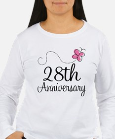 28th Anniversary Gift Butterfly T-Shirt