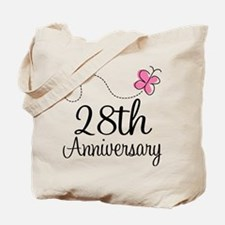 28th Anniversary Gift Butterfly Tote Bag