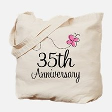 35th Anniversary Gift Butterfly Tote Bag