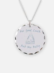 Good Luck Buddha Necklace Circle Charm