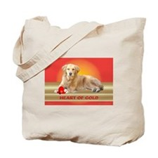 Golden Retriever Tote Bag Heart of Gold