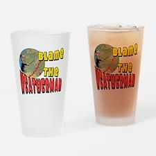 Weatherman Drinking Glass