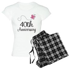 40th Anniversary Gift Butterfly Pajamas