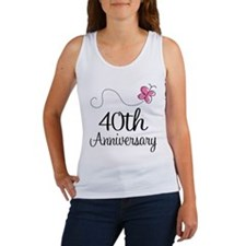 40th Anniversary Gift Butterfly Women's Tank Top