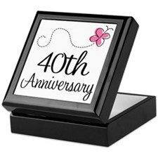 40th Anniversary Gift Butterfly Keepsake Box