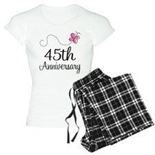 45th Anniversary Gift Butterfly Pajamas