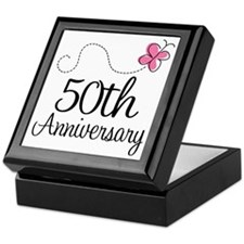 50th Anniversary Gift Butterfly Keepsake Box