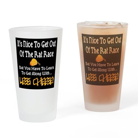 Rat Race Retirement Drinking Glass