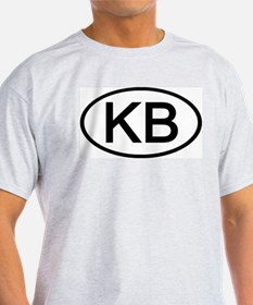 KB - Initial Oval Ash Grey T-Shirt