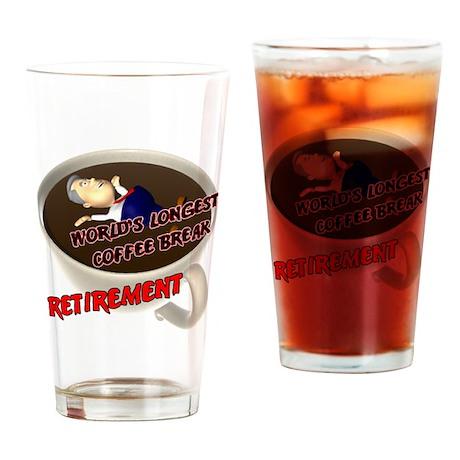 Retirement Coffee Break Drinking Glass