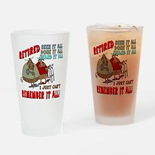 Retirement Memory Drinking Glass