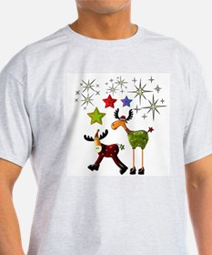 Star Moose Greetings T-Shirt