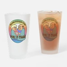 15th Wedding Anniversary Drinking Glass