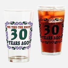 30th Wedding Anniversary Drinking Glass
