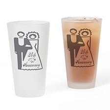 25th Wedding Anniversary Drinking Glass