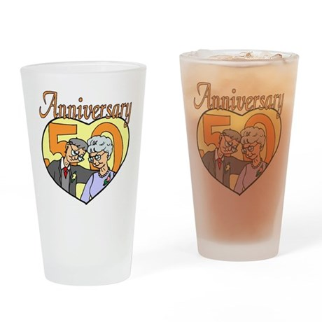 50th Wedding Anniversary Drinking Glass