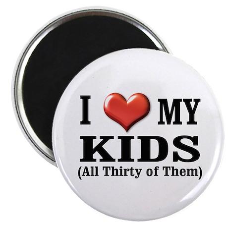 I Heart (Love) My Kids Magnet