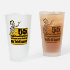 55th Birthday Drinking Glass