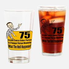 75th Birthday Drinking Glass