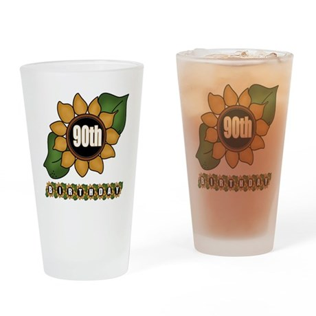 90th Birthday Drinking Glass