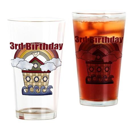 3rd Birthday Drinking Glass