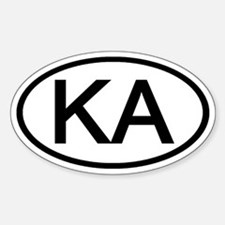KA - Initial Oval Oval Decal