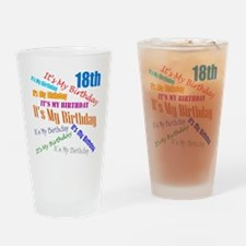 18th Birthday Drinking Glass