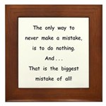 Make a Mistake Framed Tile