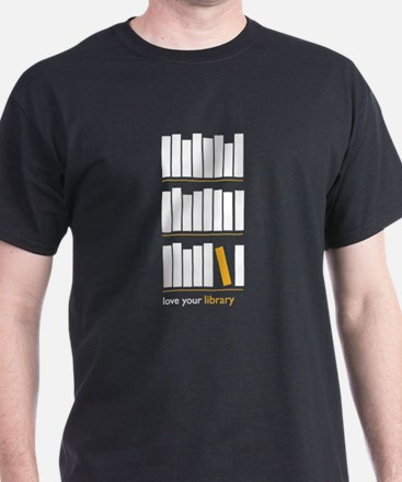Love Your Library (white art) T-Shirt