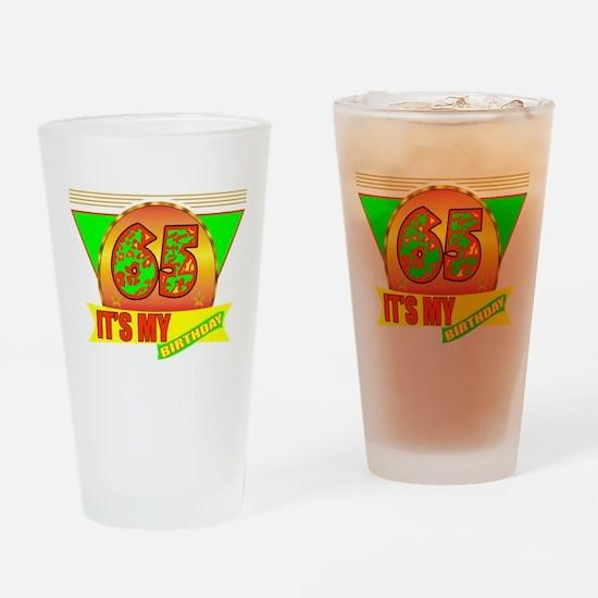 65th Birthday Drinking Glass