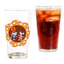 5th Birthday Drinking Glass