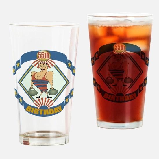 55th Birthday Drinking Glass