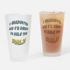 Funny Graduation Drinking Glass