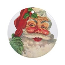 Santa Face Ornament (Round)