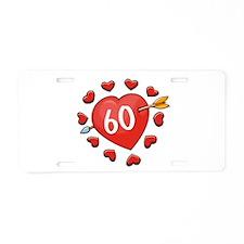 60th Valentine Aluminum License Plate