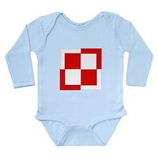 Poland Pre1993 Checkboard Long Sleeve Infant Bodys