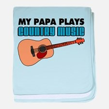 Papa Plays Country Music baby blanket