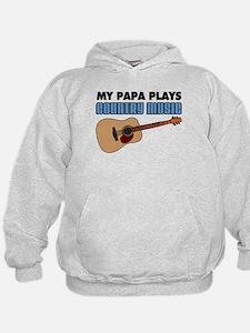Papa Plays Country Music Hoodie
