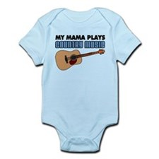 Mama Plays Country Music Infant Bodysuit