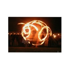 Fire Poi Dancer Magnet