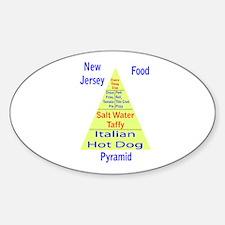 New Jersey Food Pyramid Sticker (Oval)