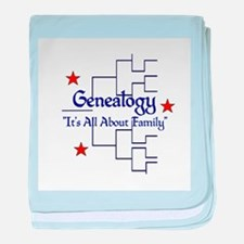Genealogy Chart baby blanket