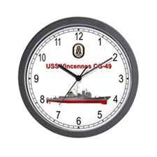 USS Vincennes CG-49 Wall Clock